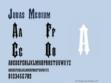 Judas Medium 001.001 Font Sample