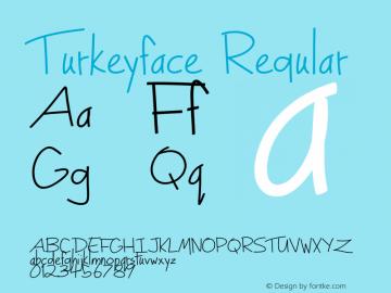 Turkeyface Regular Version 1.000 2013 initial release图片样张