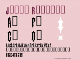 Judas Regular Macromedia Fontographer 4.1 11/23/97 Font Sample