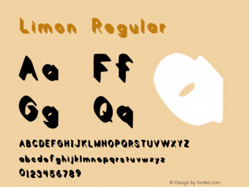 Limon Regular Version 1.00 February 21, 2013, initial release Font Sample