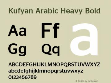Kufyan Arabic Heavy Bold Version 1.000 Font Sample
