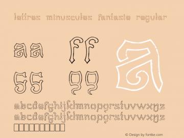 Lettres Minuscules Fantasie Regular Version 1.00 May 30, 2012, initial release图片样张