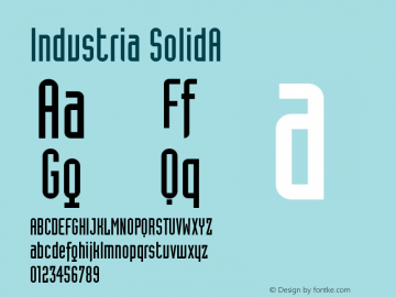 Industria SolidA Version 001.000 Font Sample