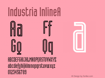 Industria InlineA Version 001.000 Font Sample