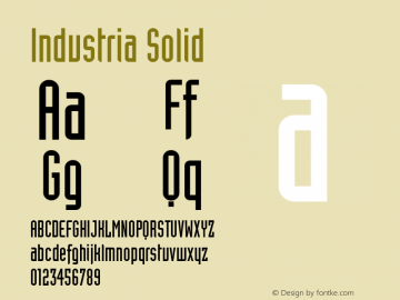 Industria Solid Version 001.000 Font Sample