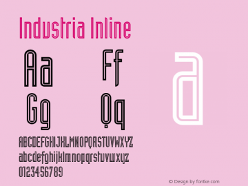 Industria Inline Version 001.001 Font Sample