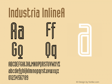 Industria InlineA Version 001.001 Font Sample