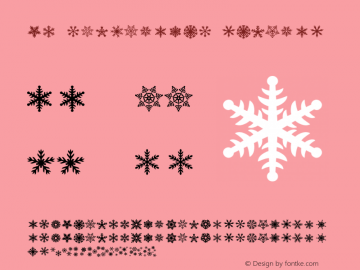 DH Snowflakes Regular Version 1.000图片样张