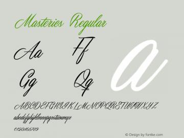 Masterics Regular 1.000 Font Sample