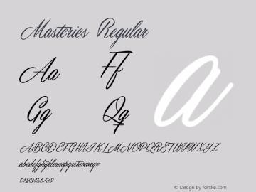 Masterics Regular Version 1.000 Font Sample