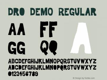 Dro DEMO Regular Version 1.000 DEMO图片样张