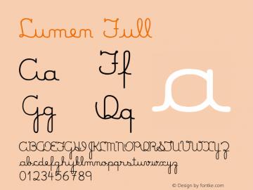 Lumen Full Version 0.000 Font Sample