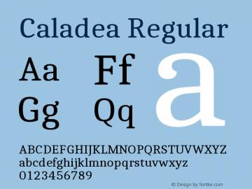 Caladea Regular Version 1.002图片样张