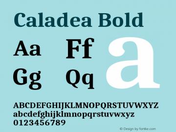 Caladea Bold Version 1.002图片样张