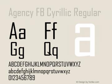 Agency FB Cyrillic Font,AgencyFBCyrillic Font|Agency FB Cyrillic