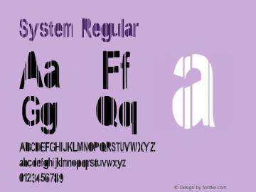 System Regular Version 1: June 7, 2009 Font Sample