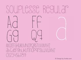 Souplesse Regular Version 1.000图片样张