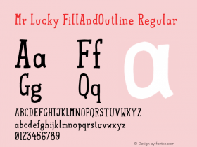 Mr Lucky FillAndOutline Regular 1.000图片样张