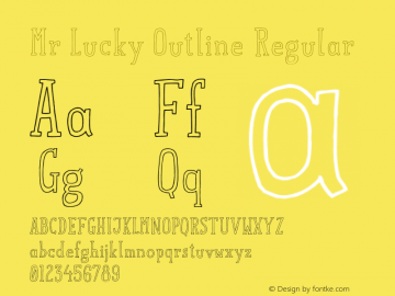 Mr Lucky Outline Regular 1.000图片样张