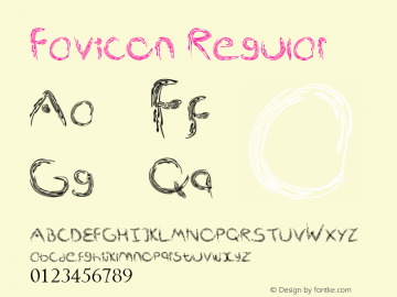 Favicon Regular Version 1.00 May 21, 2013, initial release图片样张