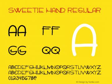 Sweetie Hand Regular Version 1.00 May 23, 2013, initial release图片样张