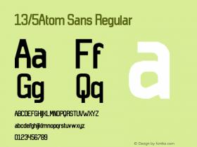 13/5Atom Sans Regular Version 1.0图片样张