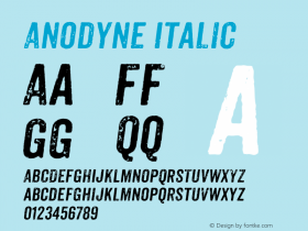 Anodyne Italic Version 1.000图片样张