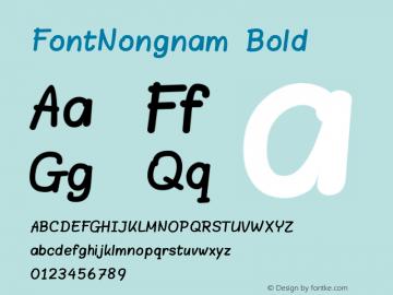 FontNongnam Bold Version 3.000 2013 initial release图片样张