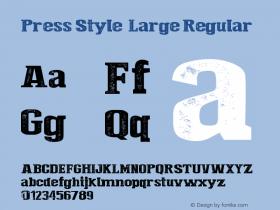 Press Style  Large Regular Version 1.00 June 12, 2013, initial release图片样张