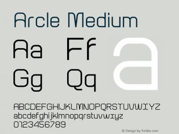 Arcle Medium 1.000图片样张