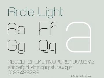 Arcle Light 1.000图片样张