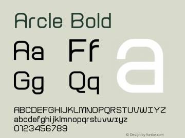 Arcle Bold 1.000图片样张