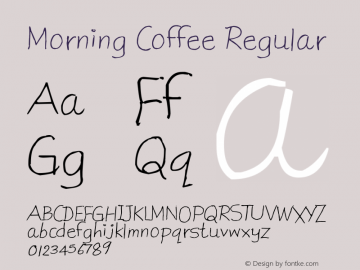 Morning Coffee Regular Version 1.00 June 15, 2013, initial release图片样张