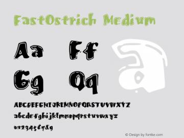 FastOstrich Medium Version 001.000图片样张