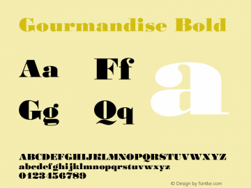 Gourmandise Bold Version 001.000图片样张