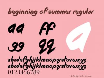 Beginning of Summer Regular Version 1.00 June 13, 2013, initial release图片样张