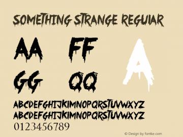 Something Strange Regular Version 1.00 June 16, 2013, initial release图片样张