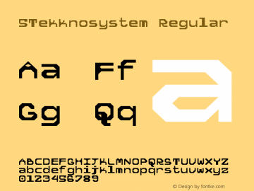5Tekknosystem Regular Version 1.0图片样张