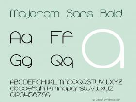 Majoram Sans Bold Version 2.00 - June 17, 2013图片样张