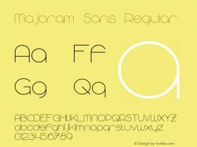 Majoram Sans Regular Version 1.10 April 7, 2015图片样张