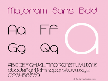 Majoram Sans Bold Version 1.10 April 7, 2015图片样张
