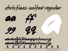 Christians United Regular Version 1.00 June 16, 2013, initial release图片样张