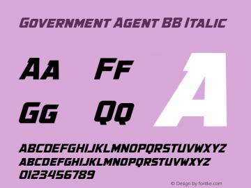 Government Agent BB Italic Version 1.000图片样张