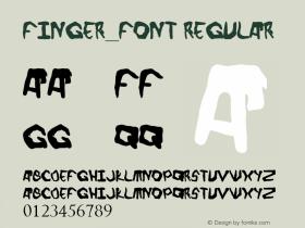 Finger_font Regular Version 1.00 March 21, 2013, initial release图片样张