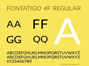 Fontatigo 4F Regular 1.0图片样张