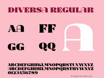 Diversa Regular Version 1.0图片样张