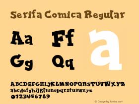 Serifa Comica Regular Version 1.00 June 17, 2013, initial release图片样张