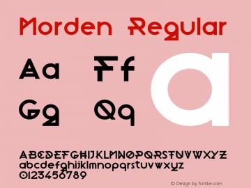 Morden Regular Version 1.000;PS 001.000;hotconv 1.0.70;makeotf.lib2.5.58329图片样张