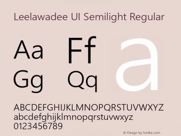 Leelawadee UI Semilight Regular Version 1.00图片样张