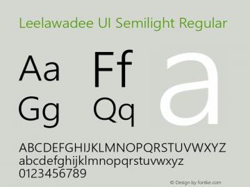 Leelawadee UI Semilight Regular Version 5.05图片样张